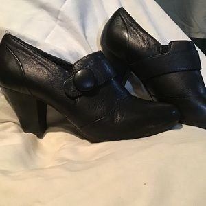 """Clarks """"bendables"""" -women's leather boot shoes 10m"""